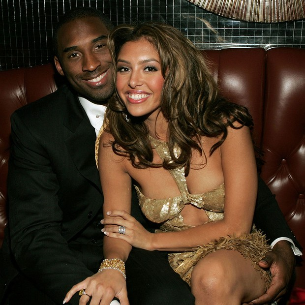 LAS VEGAS - SEPTEMBER 15: Basketball player Kobe Bryant and wife Vanessa at the official after party for the 2004 World Music Awards, September 15, 2005 at Body English in the Hard Rock Hotel in Las Vegas, Nevada. The show was being broadcast live from La (Foto: Getty Images)