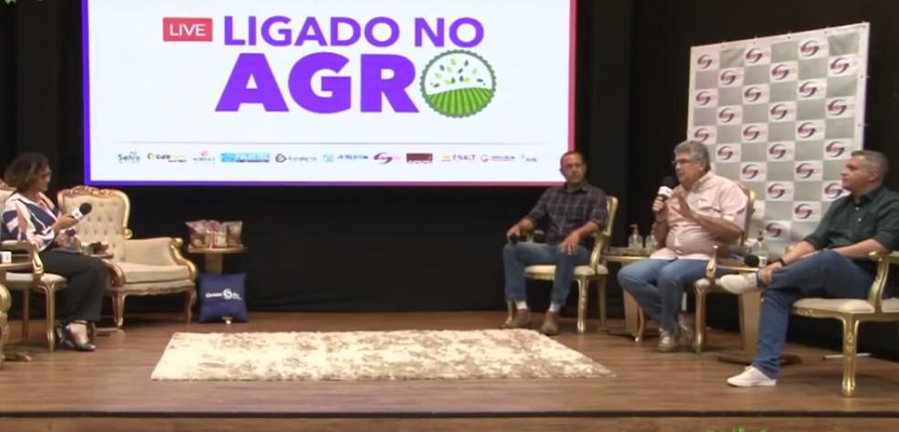 Segunda edição da live Ligado no Agro — Foto: Reprodução