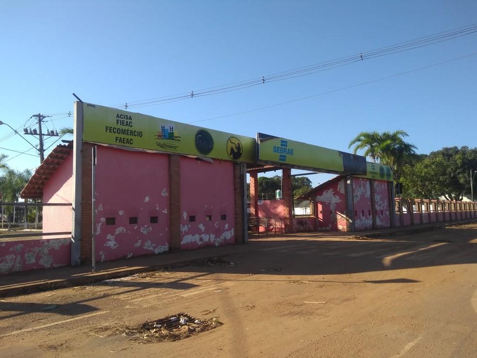 Gabinete do governador e outros setores da administração pública devem se mudar para o Parque Wildy Viana durante a Expoacre — Foto: Alcinete Gadelha/G1
