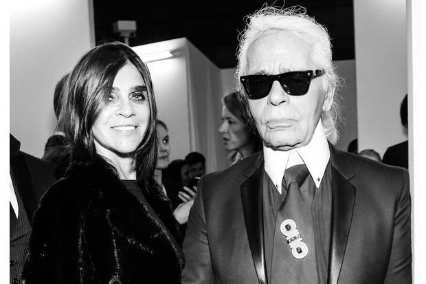 Karl Lagerfeld e Carine Roitfeld (Foto: François Goizé)