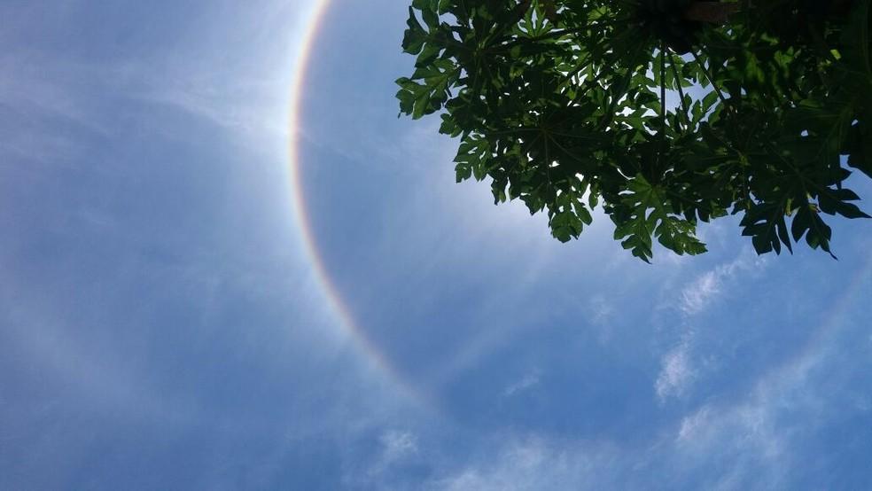 Imagem do anel feita em Biguaçu  (Foto: Michele de Souza)