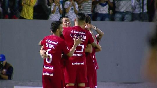 O gol de Náutico 0 x 1 Internacional pela 25ª rodada da série B do Brasileirão