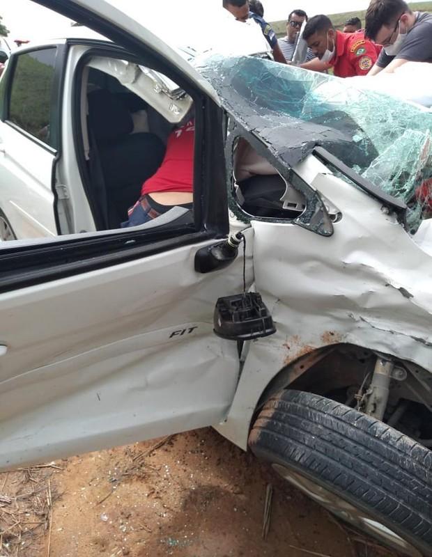 Amanda Wanessa sofre grave acidente de carro (Foto: Arquivo Pessoal)