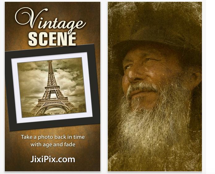 O app Vintage Scene traz uma seleção de molduras e filtros para suas imagens (Divulgação/ Vintage Scene)