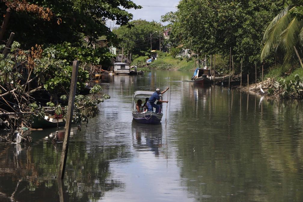 Canal do Tucunduba não é reconhecido como rio pela população de Belém.  — Foto:  Ivan Duarte/ O Liberal
