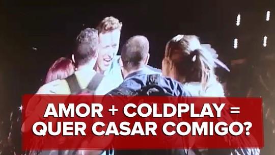 Noiva fã de Coldplay diz que 'quase infartou' com pedido de casamento