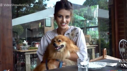 Anaju Dorigon apresenta Woody, seu cachorrinho de estimação
