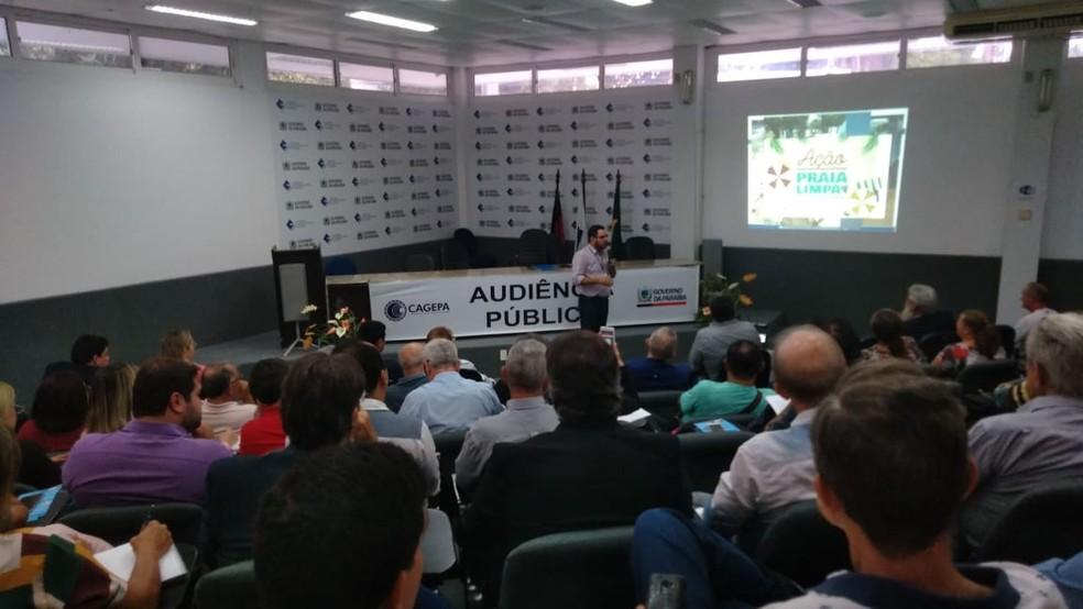 Cagega discute reajuste nas tarifas de água e esgoto para 2020, em João Pessoa — Foto: Silvia Torres/ TV Cabo Branco