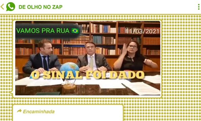 Trecho de live transmitida nos canais do presidente Bolsonaro se disseminou rapidamente nos grupos bolsonaristas