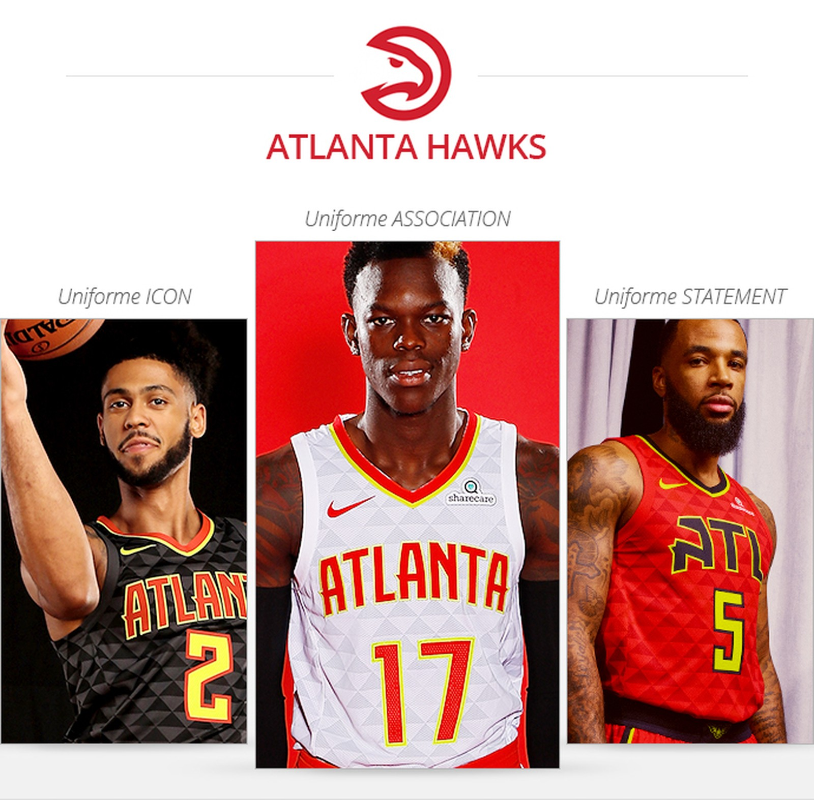 Uniforme Atlanta Hawks, Saison 2017/18