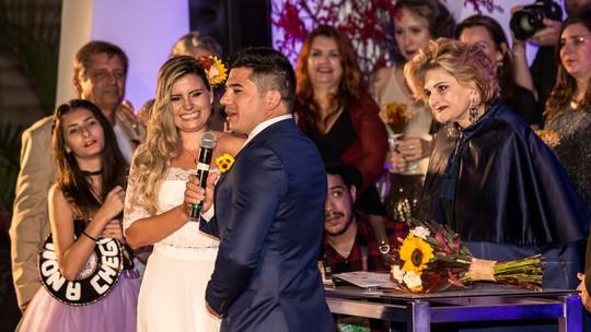 Matheus Abreu acompanha casamento durante o Rock in Rio
