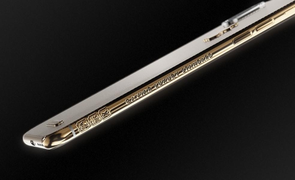 Detalhes n moldura da versão Classic Gold (Foto: Divulgação/Caviar)