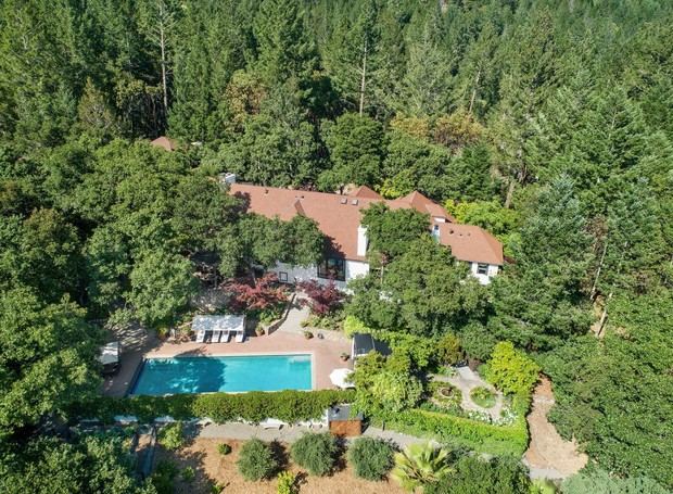 Vista aérea da casa de Robert Redford  (Foto: Reprodução/ Dwell )