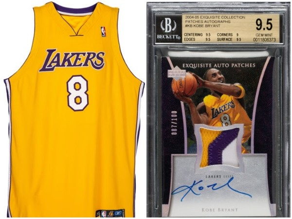 Camisa do Lakers usada por Kobe Bryant na temporada 2004-05  (Foto: Heritage Auctions (ha.com))