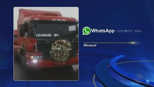 Caminhoneiros fazem manifestação pela morte de motorista de Mirassol durante assalto