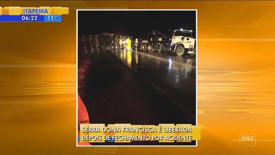 Ex-vereador e mais 2 morrem em acidente entre caminhões e van na Serra Dona Francisca