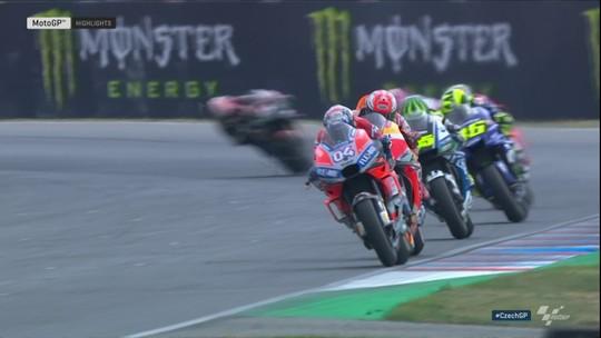 Dovizioso e Rossi ameaçam Márquez na briga pelo título da MotoGP