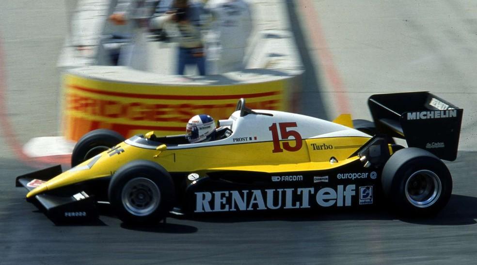 Prost estreou Renault RE40 no GP dos EUA-Oeste de 1983 — Foto: Reprodução/rede social