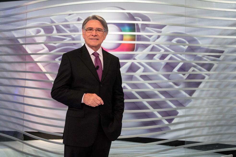 Sérgio Chapelin marcou a história de programas como Jornal Nacional, Fantástico e Globo Repórter — Foto: Globo