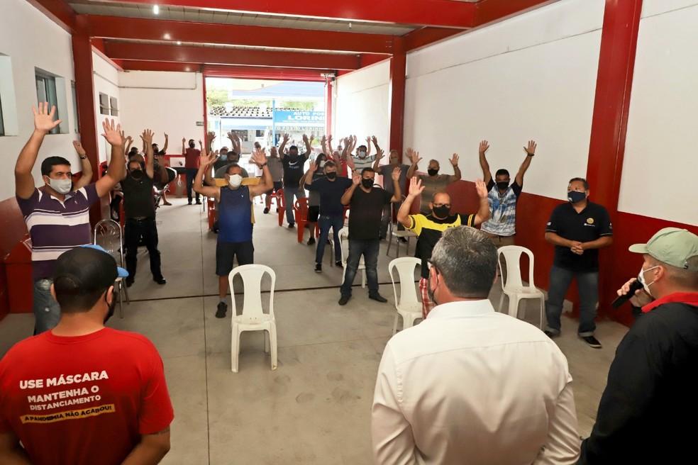 Trabalhadores da Gerdau aprovam acordo e 50 empregos são mantidos na fábrica — Foto: Divulgação/Sindicato dos Metalúrgicos de Pindamonhangaba