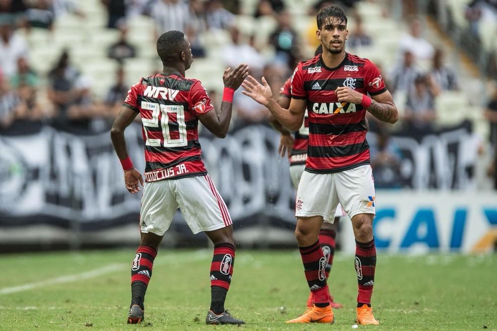 Lucas Paquetá Vinicius deixaram saudades, mas renderam um bom dinheiro.  — Foto: Pedro Martins