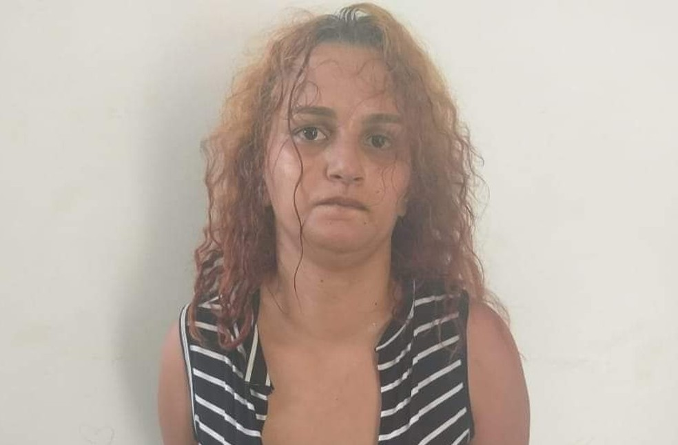 Madrasta a menina está presa em Ariquemes — Foto: Polícia Civil/Divulgação