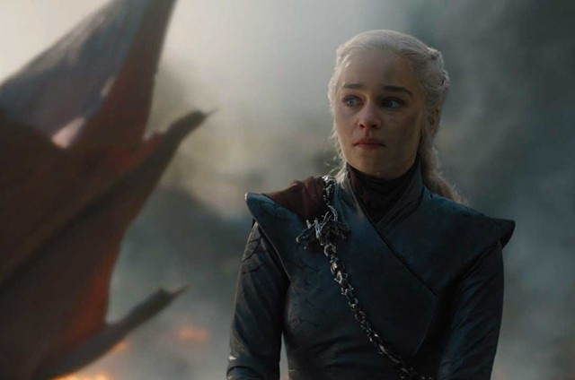 Emilia Clarke em cena como Daenerys no quinto episódio da oitava temporada de 'Game of Thrones' (Foto: HBO)
