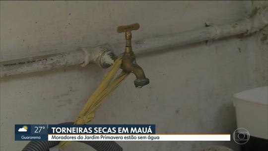 Moradores de Mauá denunciam falta de água e aumento do valor da conta