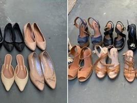 Desempregada põe sapatos à venda na rua: 'Era consumista' (Fernanda Castro/Arquivo Pessoal)