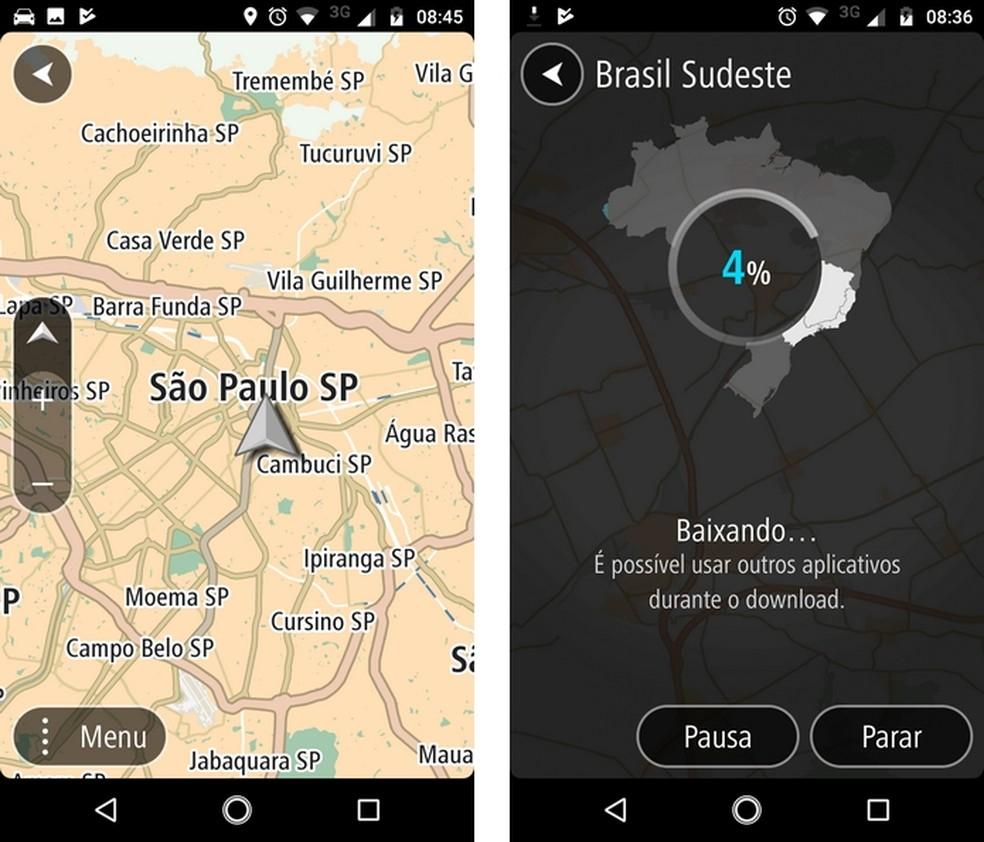TomTom Go Brasil, app para Android com navegação offline (Foto: Reprodução/Raquel Freire)