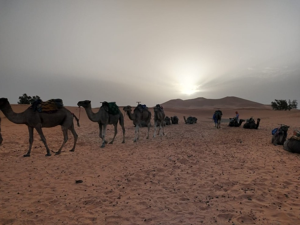 Saara, o deserto onde vive os berberes e onde o cuscuz nasceu milhares de anos atrás — Foto: Phelipe Caldas/G1
