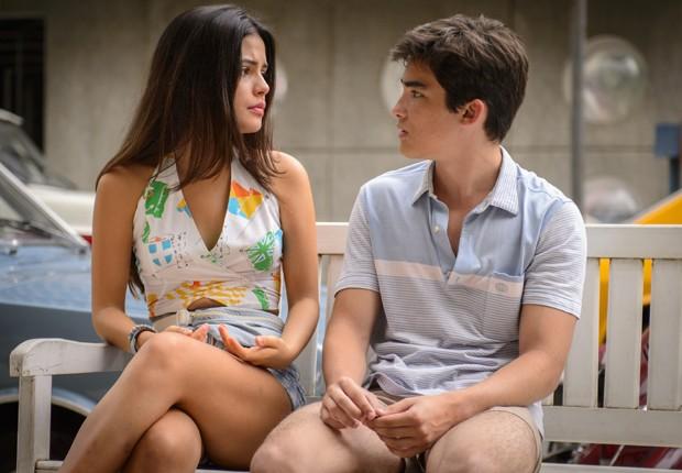 2014: Na novela 'Boogie Oogie', Julia Dalavia interpretou Alessandra e contracenou com José Victor Pires (Foto: Divulgação/TV Globo)