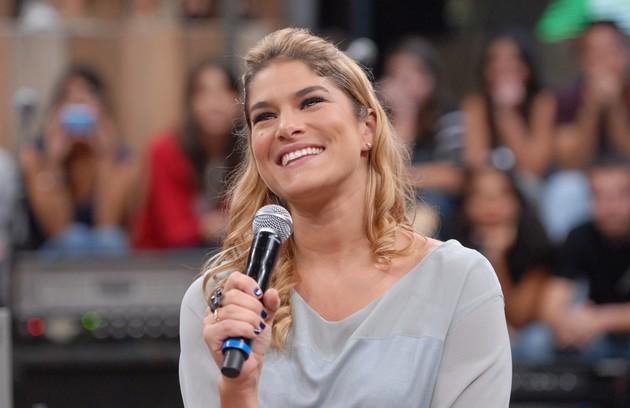 Prisila Fantin conta  quais programas infantis que marcaram a sua infância e que ela gostaria de mostrar para o seu filho,  Romeu (Foto: TV Globo)