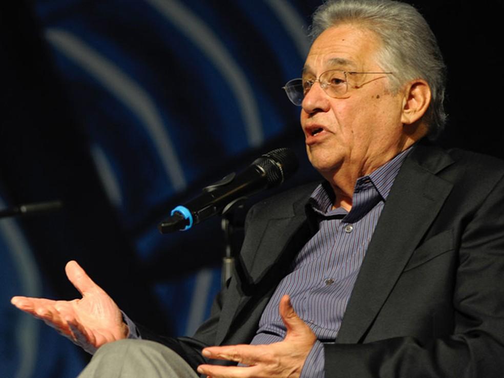 O ex-presidente Fernando Henrique Cardoso — Foto: Flavio Moraes/G1