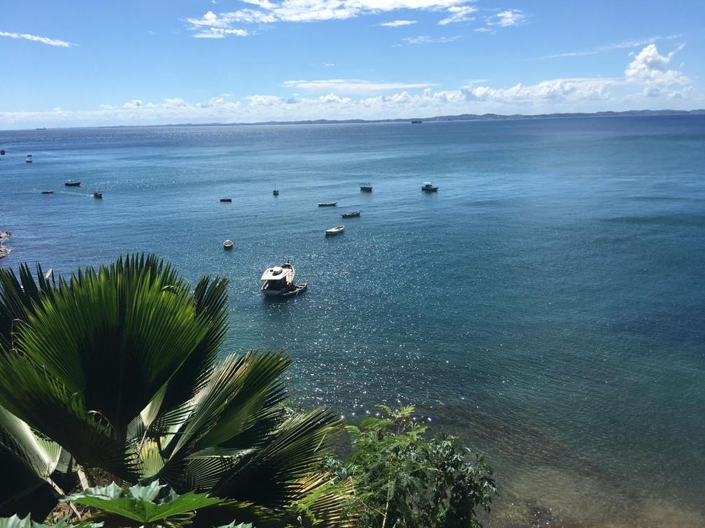 Bairro da Gamboa tem vista paradisíaca da Baía de Todos-os-Santos — Foto: Itana Alencar/G1