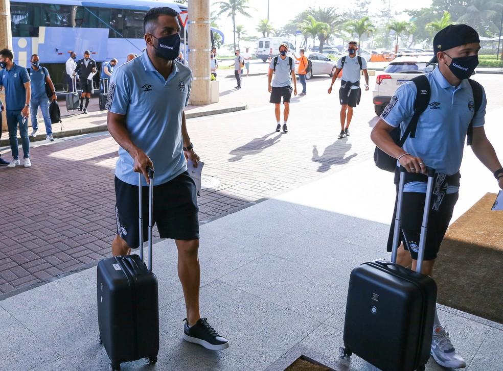 Maicon e Pepê tambéme podem voltar — Foto: Lucas Uebel/Grêmio