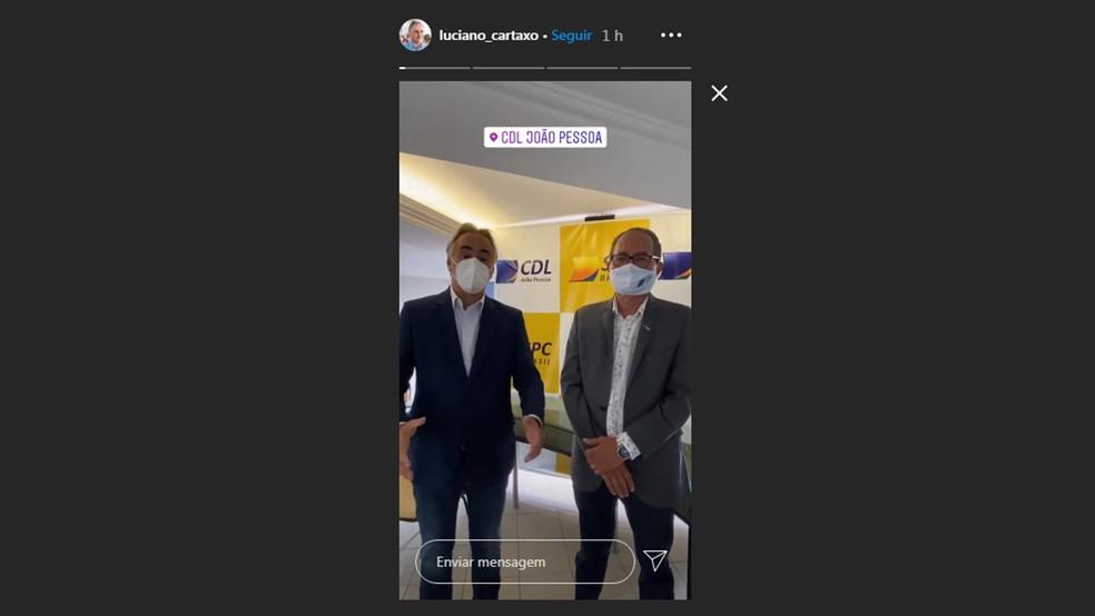 Anúncio foi feito por Luciano Cartaxo (PV) nas redes sociais — Foto: Reprodução/Instagram/luciano_cartaxo