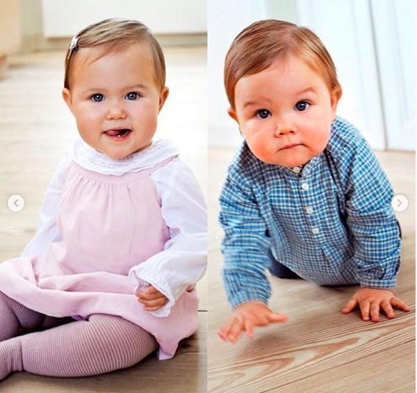 O Príncipe Vicent e a Princesa Josephine em foto divulgada pela Princesa Mary da Dinamarca (Foto: Instagram)