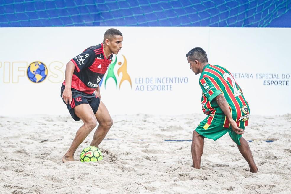 Flamengo perde por 5 a 2 para o Sampaio Corrêa-MA no Campeonato Brasileiro de Futebol de Areia — Foto: Rodrigo Ferreira/Fla Beach Soccer