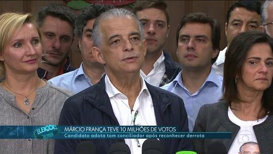 Márcio França fez discurso de conciliação ao reconhecer derrota