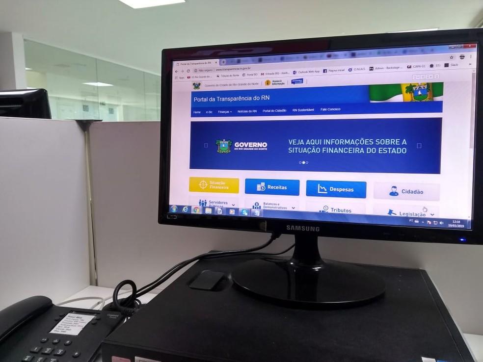 Governo do RN anuncia novo Portal da Transparência e explica polêmica sobre valores que possui em caixa  — Foto: G1 RN