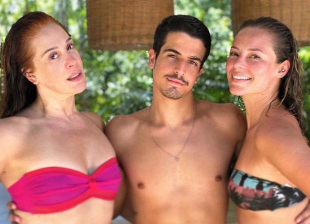 Enzo, Claudia Raia e Paolla Oliveira (Foto: Reprodução/Instagram)