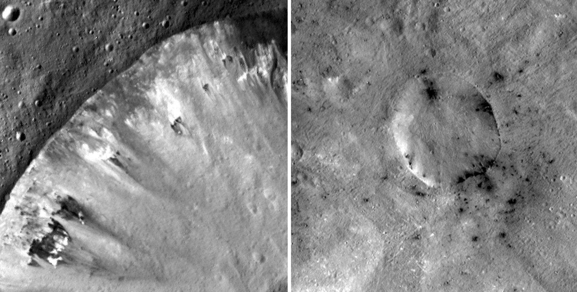 Crateras de Vesta registradas pela Dawn em 2013 (Foto: NASA)