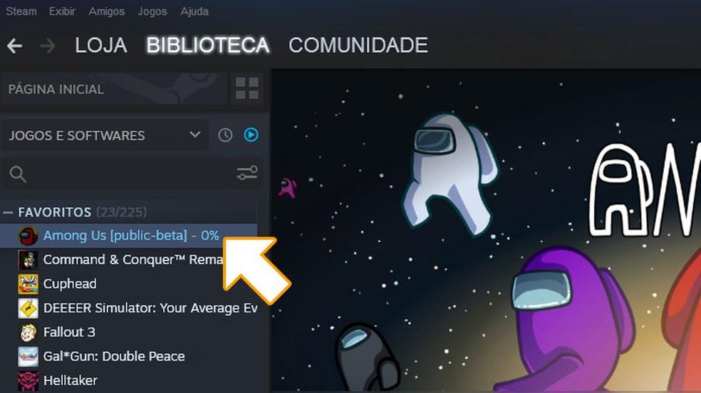 Aguarde até que a versão beta de Among Us seja instalada em seu PC — Foto: Reprodução/Rafael Monteiro