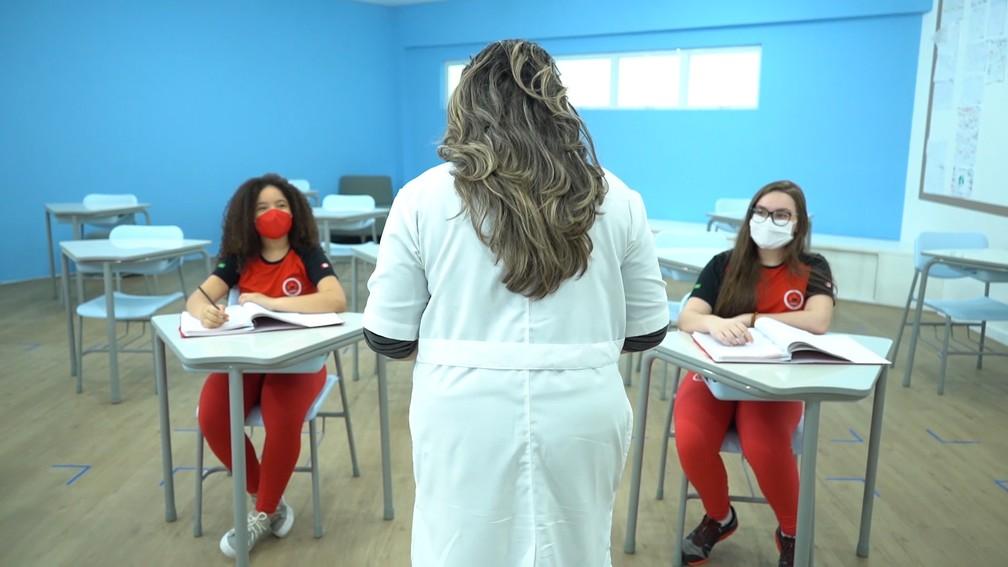 Para o retorno as aulas, as escolas da rede privada de São Luís (MA) vão aderir escalas por dias para aulas presenciais com os alunos. — Foto: Divulgação/Escola Mapple Bear