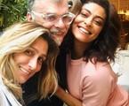 Amora Mautner, Walcyr Carrasco e Juliana Paes | Reprodução Instagram