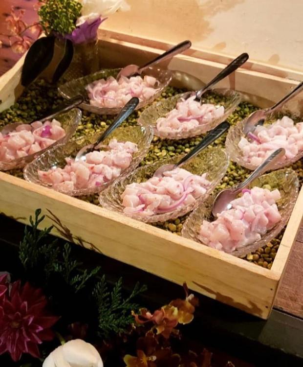 Ceviche de peixe banco do casamento da Karina Bacchi e Amaury Nunes (Foto: Instagram/ Reprodução)