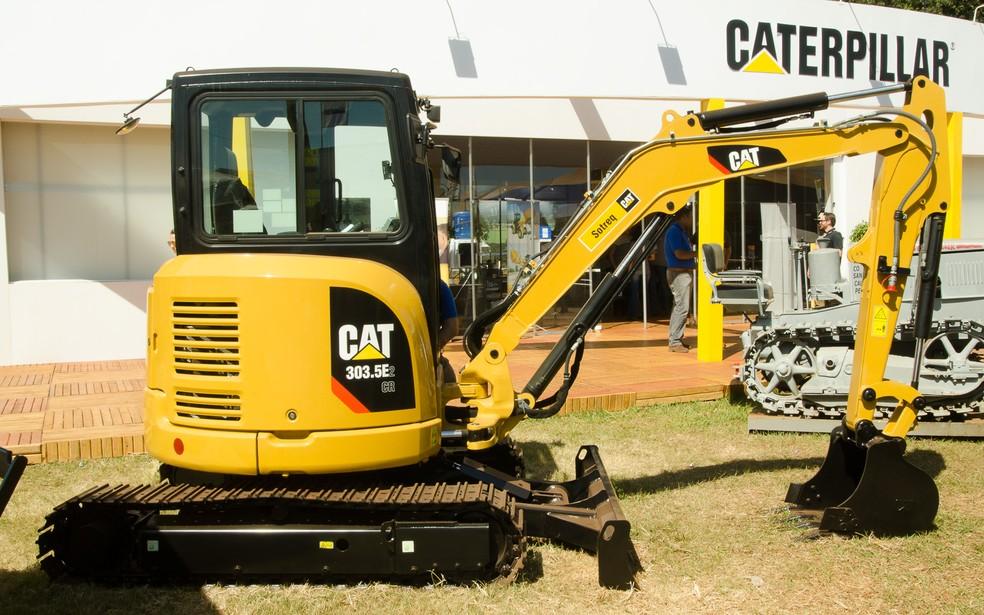 Caterpillar volta a participar da Agrishow após 20 anos  (Foto: Érico Andrade/G1)