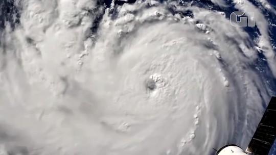 Nasa divulga imagens do furacão Florence feitas da Estação Espacial Internacional; veja vídeo
