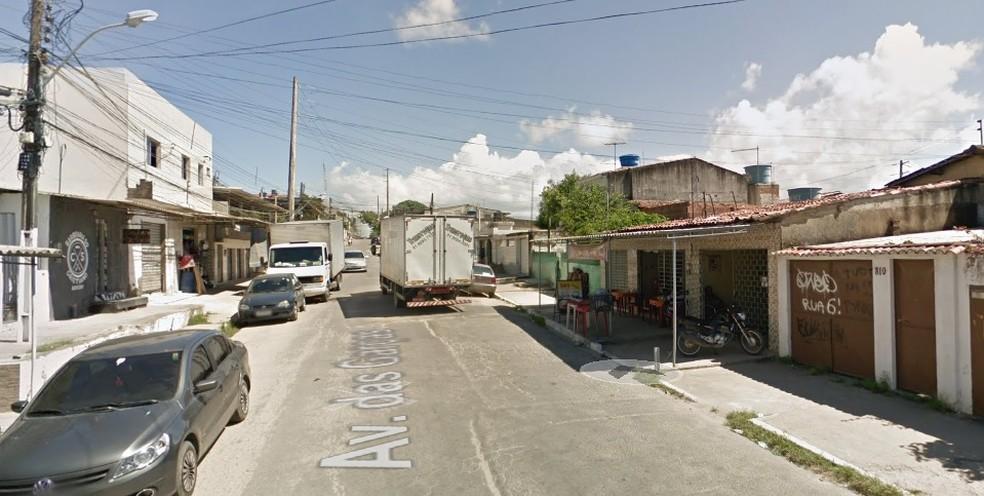 Avenida das Garças fica em Rio Doce, em Olinda, no Grande Recife — Foto: Reprodução/Google Street View